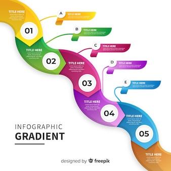 Modelo colorido gradiente infográfico
