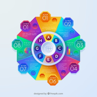 Modelo colorido infográfico Vetor grátis