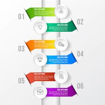 Modelo colorido infográfico