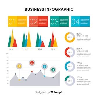 Modelo colorido infográficos