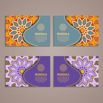 Modelo colorido ornamental para cartão de visita.
