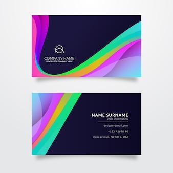 Modelo colorido para cartão de visita