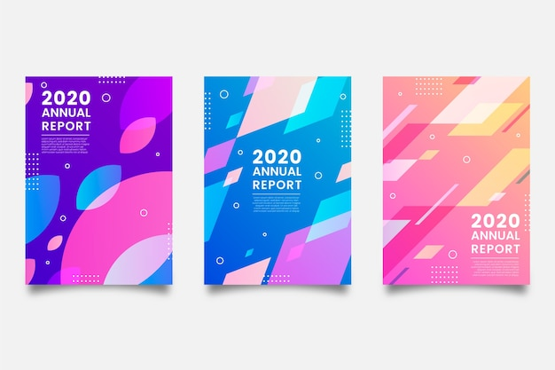 Modelo colorido para relatório anual