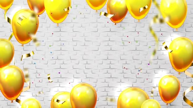 Modelo com balões para convite de cartão