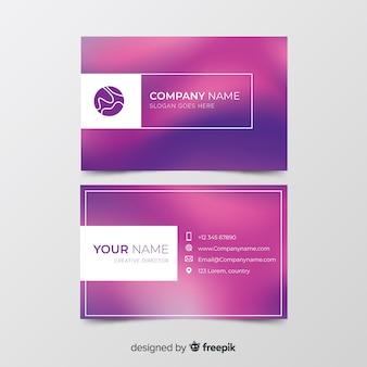 Modelo com cartão de visita gradiente