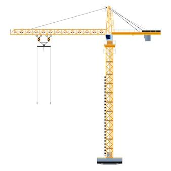 Modelo com torre de construção