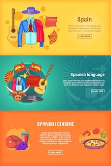 Modelo conjunto de bandeira de espanha.