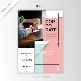 Modelo corporativo relatório anual de capa pastel