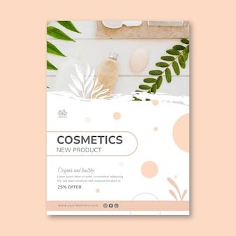 Modelo cosmético de folheto vertical