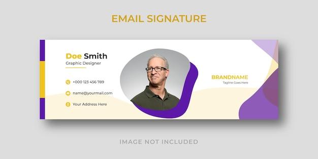 Modelo criativo de assinatura de e-mail comercial pessoal