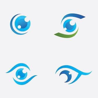 Modelo criativo de design de logotipo para cuidados com os olhos