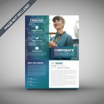 Modelo criativo de folheto corporativo