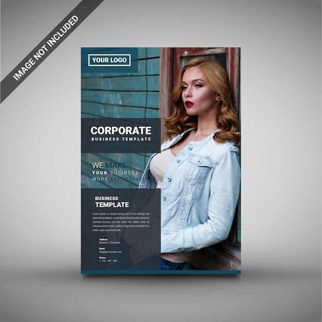 Modelo criativo de folheto empresarial corporativo