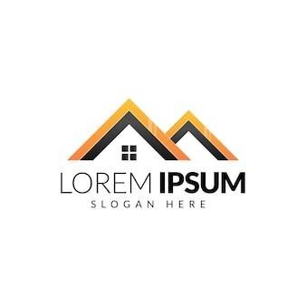 Modelo criativo de logotipo imobiliário