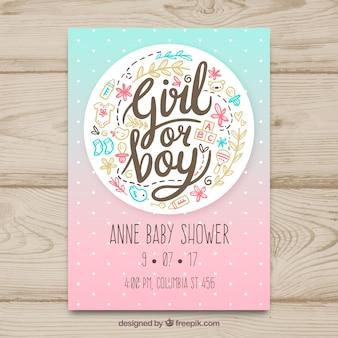 Modelo criativo do cartão de festa do bebê