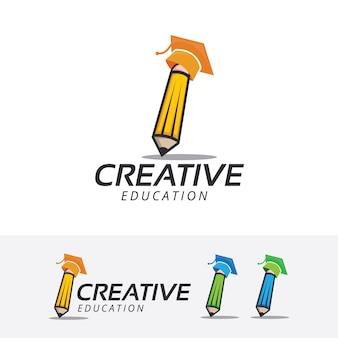 Modelo criativo do logotipo do vetor academia