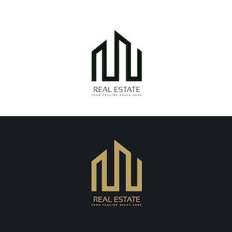 Modelo criativo do projeto do logotipo do negócio dos bens imobiliários