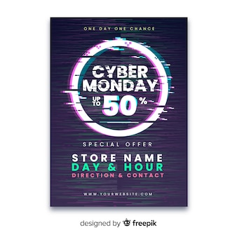 Modelo cyber segunda-feira falha