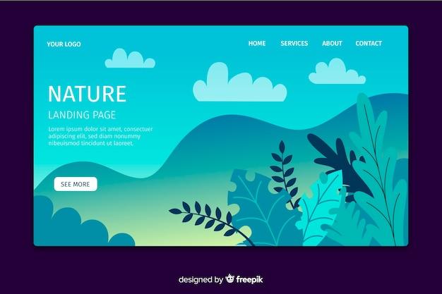 Modelo da página de destino da natureza