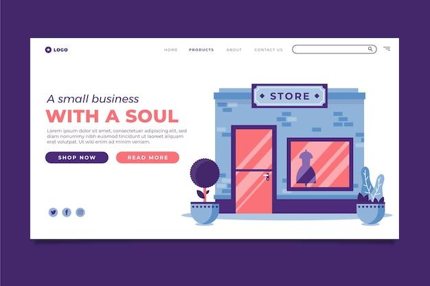 Modelo da web da página de destino para pequenas empresas
