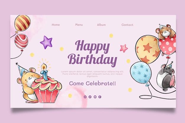 Modelo da web de aniversário infantil