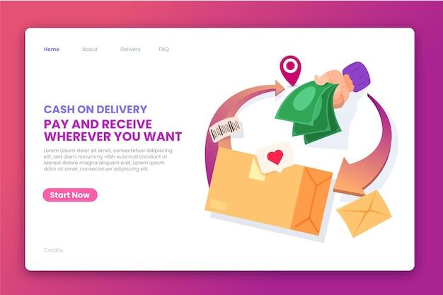 Modelo da web de dinheiro na entrega