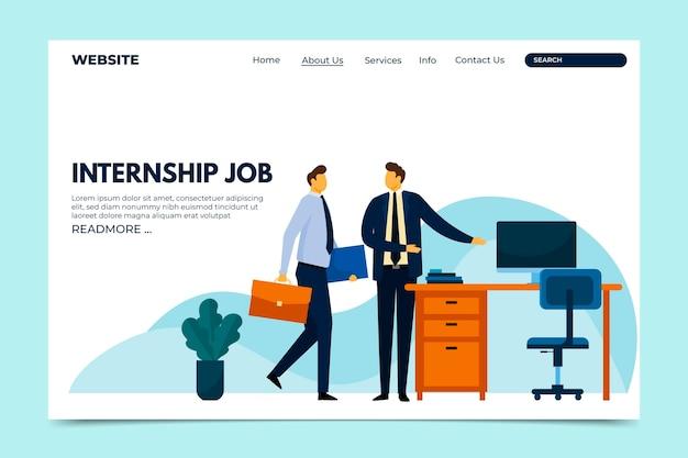 Modelo da web de empregos de estágio