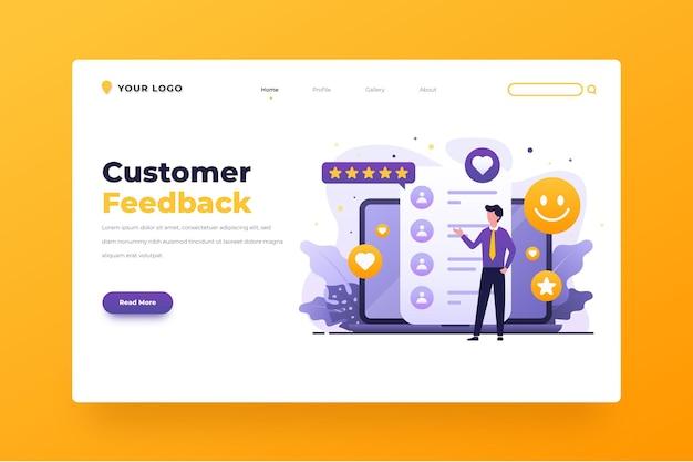 Modelo da web de feedback gradiente