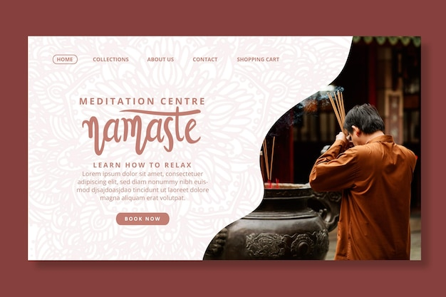 Modelo da web de meditação e atenção plena