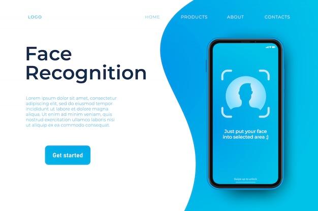 Modelo da web de reconhecimento de rosto