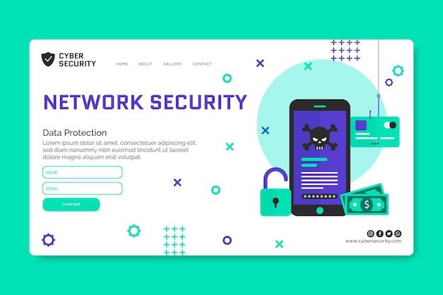 Modelo da web de segurança cibernética