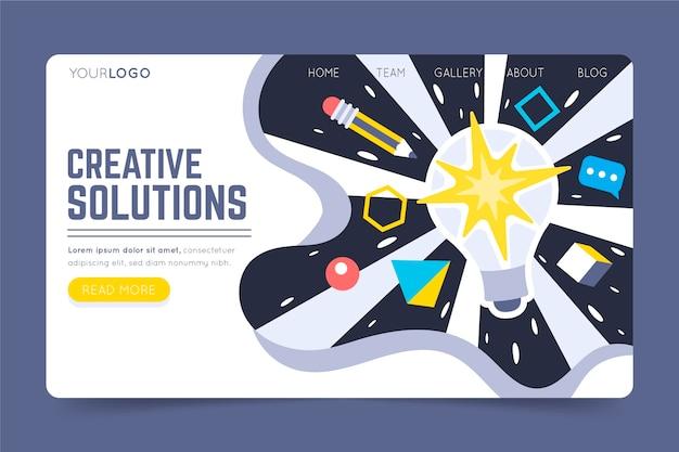 Modelo da web de soluções criativas orgânicas
