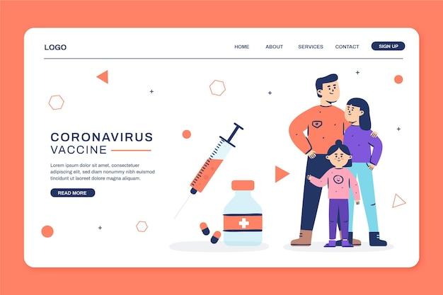 Modelo da web de vacina contra coronavírus