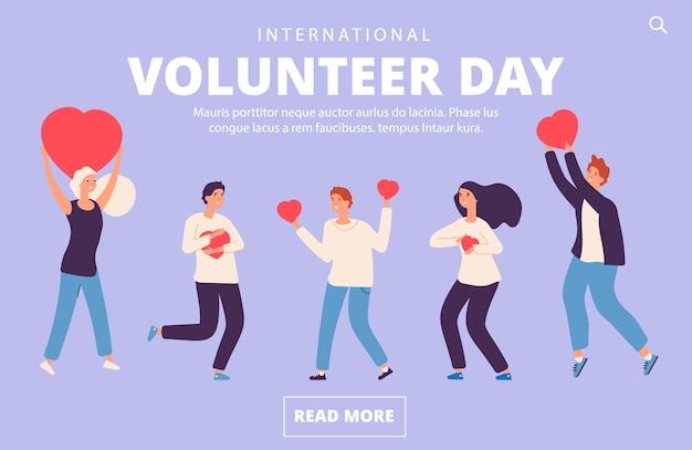Modelo da web do dia do voluntário