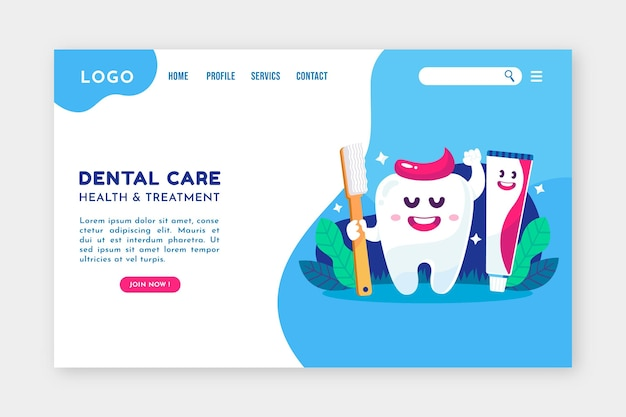 Modelo da web para planos de saúde dentária