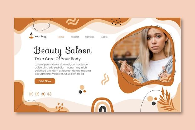 Modelo da web para salão de beleza