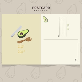 Modelo de abacate bonito para cartões postais.