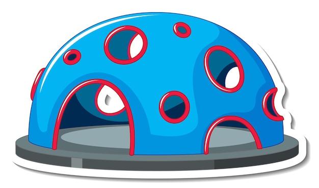 Modelo de adesivo com equipamento de playground de escalada isolado
