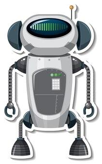 Modelo de adesivo com robô em estilo cartoon
