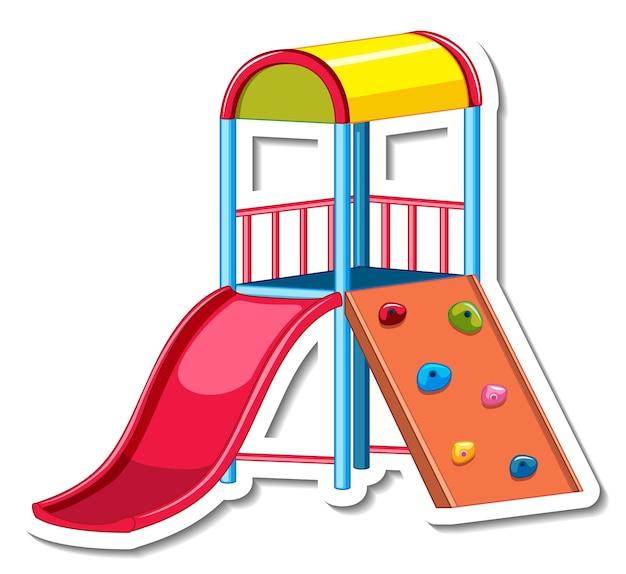 Modelo de adesivo com slide para playground isolado
