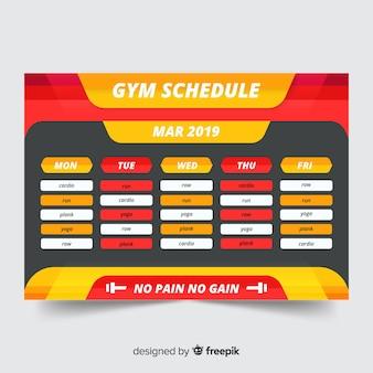Modelo de agendamento de treino