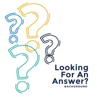 Modelo de ajuda e suporte da web com pontos de interrogação