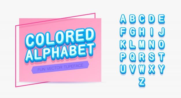 Modelo de alfabeto colorido.