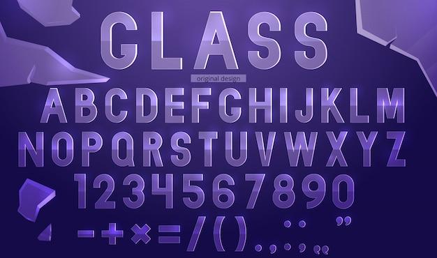 Modelo de alfabeto de vidro