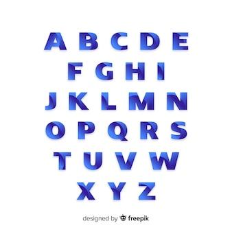 Modelo de alfabeto gradiente monocromático