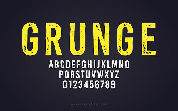 Modelo de alfabeto grunge
