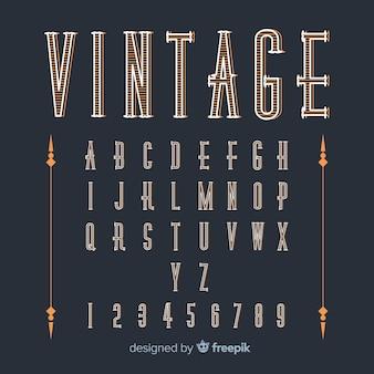 Modelo de alfabeto vintage