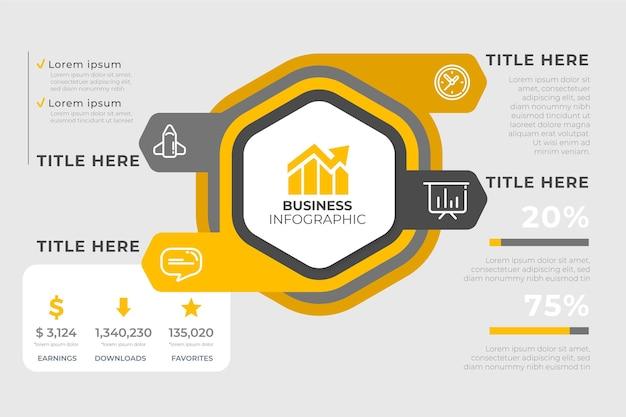 Modelo de análise de infográfico de negócios