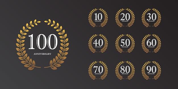 Modelo de aniversário de 100 anos