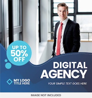 Modelo de anúncio - banner de negócios